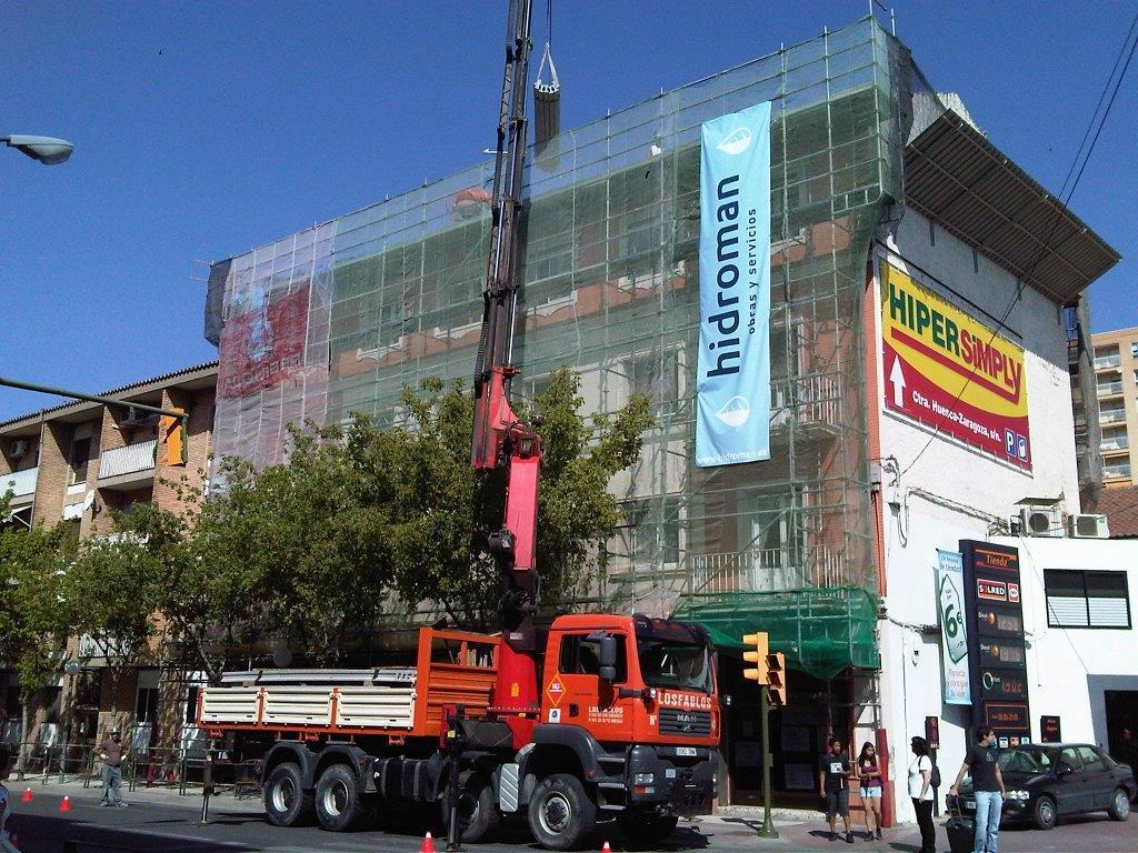 Sustitución de Forjado y Cubierta en Edificio de Huesca