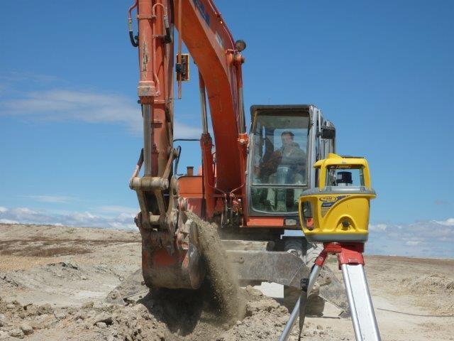 Excavación de Zanja con Nivel Laser